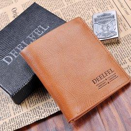 迪菲萊真皮男包 男士短款商務錢包 錢夾卡包 證件包 潮男皮夾子