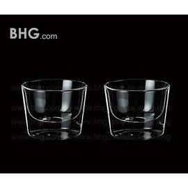 R02《雙層玻璃杯》出口德國,手工敞口甜品碗300ml,雙手捧著的幸福,甜品、冰品、冷飲、養生湯都超棒 (1入)