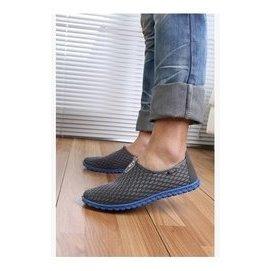 男款網狀男休閒鞋 單鞋網面透氣輕便懶人鞋男士洞洞鞋 43號