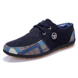 ~瘋搶5.1~ 越野跑步鞋 鞋輕便慢跑鞋透氣防滑旅遊鞋 復古男鞋045 藍色 40