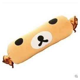 可拆洗卡通 長抱枕 可愛長糖果枕頭沙發靠枕兩用大號圓柱 輕松熊糖果 100釐米