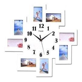 飾禮家2076大號相框靜音掛鐘 藝術時鐘 掛表 田園相框