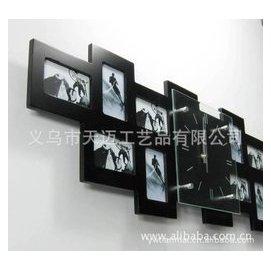 音時鐘大號木制 掛鐘相框  個客廳照片牆鐘表歐式靜