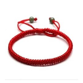 紅繩歐幣鍍黃金珠轉運珠玉珠腳鏈 民族編織純銀生肖鈴鐺男女腳繩
