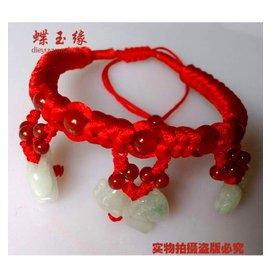 民族風2015年本命年吉祥物羊腳鏈定制12生肖紅繩金剛結飾品男女款