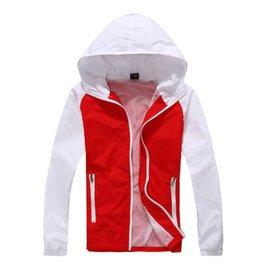 丹傑仕2015 男士 修身連帽開衫衣青春 撞色夾克旅遊戶外 防曬衣外套 紅色