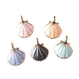 diy蝴蝶結材料 滴油 合金小掛件 手鏈吊墜 合金貝殼 小扇貝