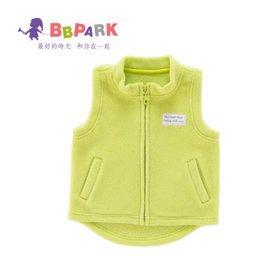 貝貝帕克 嬰幼兒兒童背心馬甲搖粒絨寶寶開衫 男女童坎肩馬夾  黃綠 90