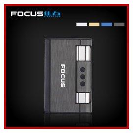焦點自動彈煙煙盒帶打火機  男士煙盒 超薄自動德國8支裝
