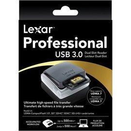 Lexar USB 3.0  雙槽 讀卡機 CF SDXC SDHC UHS~I 1 ^(