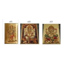 ~幸運星~印度 神像 甘內什 甘奈什 Ganesh 財神 象鼻神 金箔 開運 招財 象神