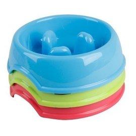 ~新竹樂比特~PD寵物慢食碗防噎碗貓狗食盆水碗飼料碗LVS0003(18X18X5CM,S