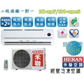 宸星│~HERAN~禾聯 一對一分離式 二級旗艦型 定頻單冷 壁掛式冷氣 空調 4~6坪
