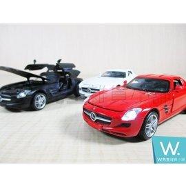 ~W先生~MZ 美致 1:32 賓士 Benz SLS AMG 合金車 迴力車 模型車 聲