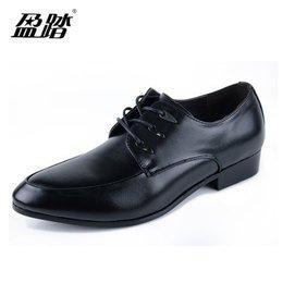 男士正裝商務皮鞋 英倫尖頭皮鞋繫帶低幫鞋男鞋新郎皮鞋婚鞋簡約 紳士男皮鞋 黑色 42