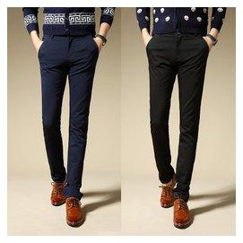 春夏 青年男士小腳修身型英倫 西褲潮商務長褲子黑色西裝褲