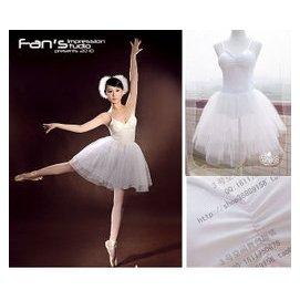芭蕾舞蹈演出服裝短款白紗裙練功服天鵝舞裙訂做小荷風采雪花
