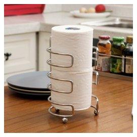 歐潤哲廚房紙巾架 特粗線不鏽鋼卷紙架 廚房用擦手紙架子 保鮮膜架