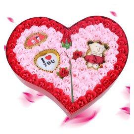 小麥穗95皂玫瑰花 女友生日   送女友老婆女生 表白神求婚驚喜結婚 紅色