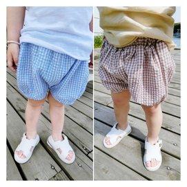 2015夏  兒童男童女童寶寶超薄透氣棉麻格子短褲燈籠褲潮