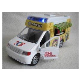 ~KENTIM 玩具城~ 十周年版本OPEN將^(OPEN小將^)聲光快餐車合金迴力車
