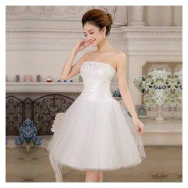 艾美諾 2015春夏婚紗禮服 新娘敬服 結婚短款婚紗 修身晚禮服 伴娘服演出服0041