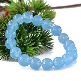代客網拍 天藍寶石 藍玉髓 手鏈 10MM 天然水晶