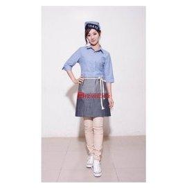 ~食尚家~~牛津布 仿牛仔布 水藍色 淡藍色襯衫 oxford襯衫 五分袖襯衫 美式休閒襯