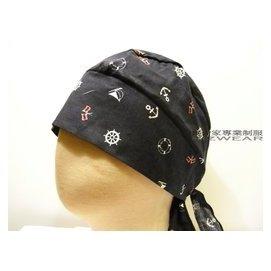 ~食尚家~~餐廳外場人員服務生帽子 綁帶式帽衛生帽 改良式頭巾 海盜帽 日式頭巾 休閒包布