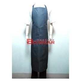 ~食尚家~~ 餐飲用圍裙 廚師圍裙 型男主廚最愛條紋圍裙 男性 圍裙 深藍底白條紋全身圍裙