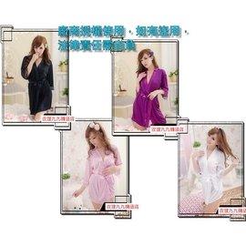 款式編號:B18 貴婦情人大碼蕾絲花邊開襟性感睡袍 白色 紫色 粉紅色 黑色性感浴袍