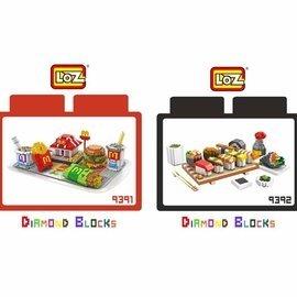 LOZ 鑽石積木 9391 ~ 9392 麥當勞 壽司 美食系列 益智玩具 趣味 腦力激盪