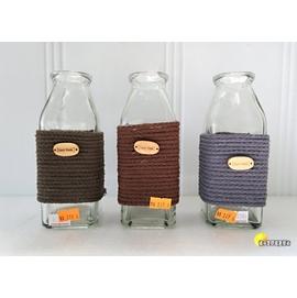 ^~橘子空間裝置藝術^~ 彩色麻繩 玻璃瓶.花器.花瓶.燭台.迷你魚缸~人造花.插花用品