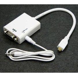 哈GAME族 可 Micro HDMI to VGA  Audio output 轉接線