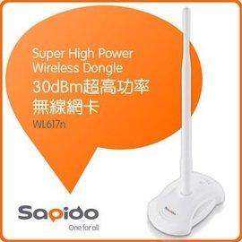 ^~哈GAME族^~傻多 Sapido WL617n 30dBm 超高功率無線網卡  超低