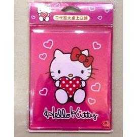 阿虎會社~A ~ 126~  超大桌上立鏡~愛心粉 三麗鷗 Hello Kitty 凱蒂貓