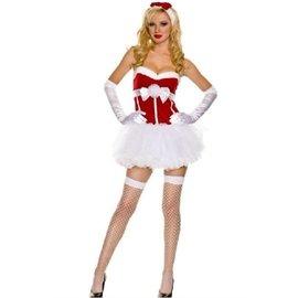 ~萬聖節 cosplay~白色蓬蓬裙耶誕聖誕裝聖誕服裝聖誕節服飾裹胸洋裝小禮服演出服裝