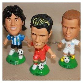 阿根廷梅西公仔英格蘭魯尼C羅模型14年巴西世界杯足球明星人玩偶