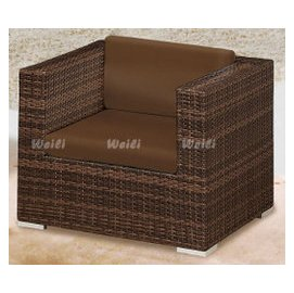 6X~新北蘆洲^~偉利傢俱~653單人籐沙發.含墊^(單^)~編號 ^( X119~2 ^