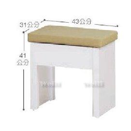 6F~新北蘆洲^~偉利傢俱~白色化妝椅~編號(F168~7)~雙北市免 ~