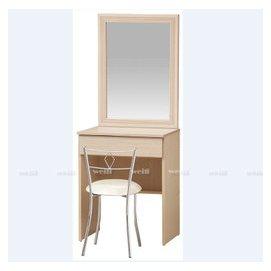 5D~新北蘆洲^~偉利傢俱~小巧2尺洗白鏡台^(含椅^)~編號(D545~22)~雙北市免