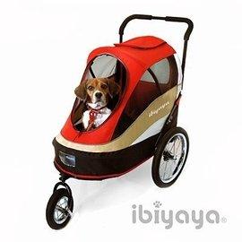 ?有貓真好 ?~IBIYAYA~依比呀呀~FS980 兩用寵物推 拖車~紅~~寵物推車 自