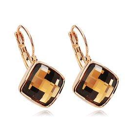 女日韓新鮮出爐合金鑲嵌人工寶石半寶石銀得利飾品耳環