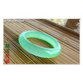 緬甸新翡翠翠玉手鐲淺淡綠色玉手鐲子冰種女款女士純天然真玉玉石