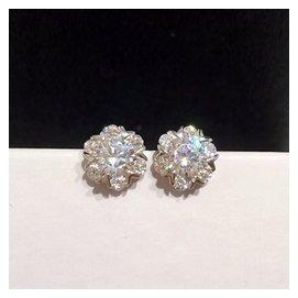 雪花鑽石925純銀耳釘耳環 鋯石鑲鑽超閃銀飾耳飾防過敏女生日
