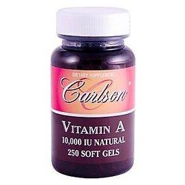 天然維他命A ^(維生素A^):250顆軟膠 Carlson Labs Vitamin A