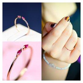 ?KXK?  lt 韓國直購 韓國鑲鉆細開口女戒指 日韓飾品簡約活口指環鍍金閨蜜