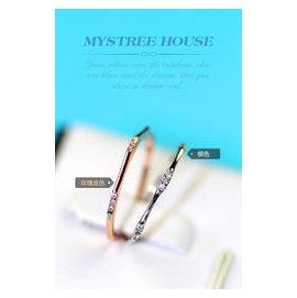 ?KXK?  lt 韓國直購 韓國鑲鉆女戒指 日韓飾品簡約細指環鍍K金閨蜜女友 品