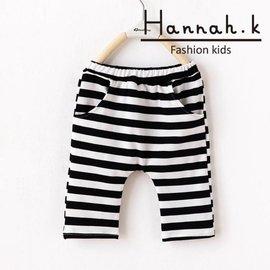中小 男童 女童 純棉口袋五分褲中褲 哈倫褲  Hannah.K