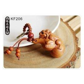 ~琢木琦玉~KF206 棗木 立體 葫蘆貔貅 招財納福 鑰匙圈 ~祈福木製選物